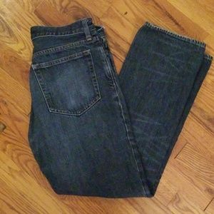 J Crew Blue Washed Slim Straight Jeans 31x30
